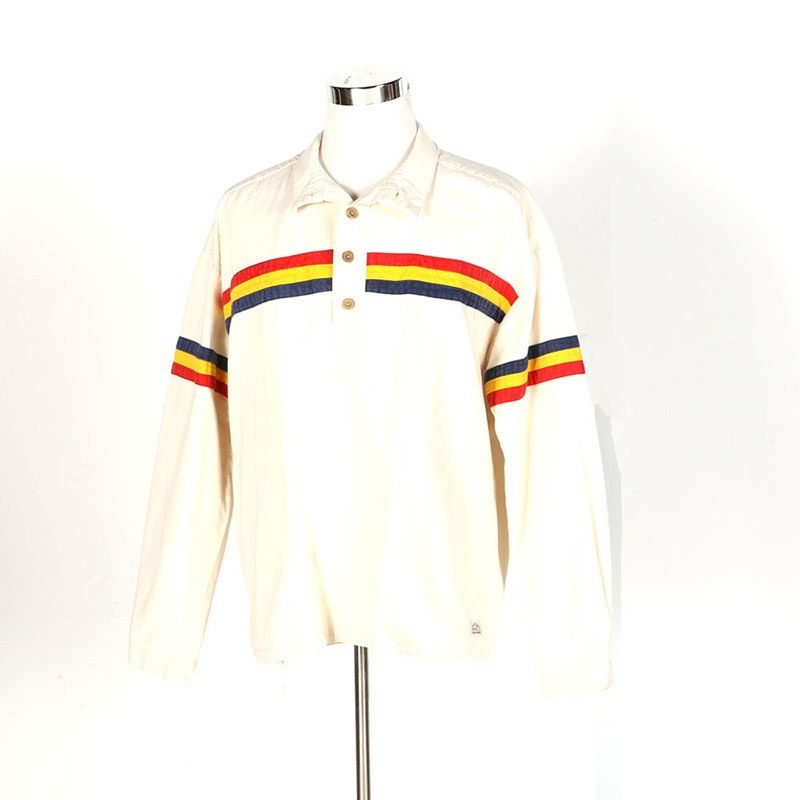 3d8c2d77 Vintage Men's Striped White Rugby Shirt - FRONT - Kettle Creek Canvas  Company - Port Stanley, Ontario Canada