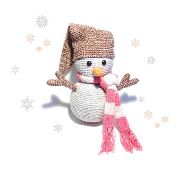 SNOWMAN Crochet Pattern, Pepper | Patrones de crochet, Nieve y Patrones
