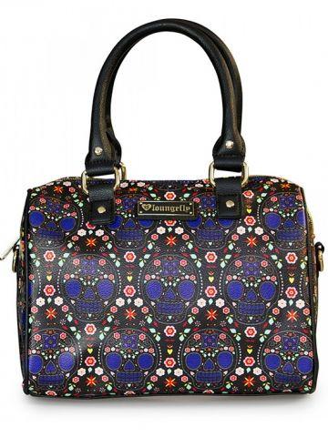"""Bright Sugar Skull"" Printed Pebble Duffle by Loungefly  #purse #bag"