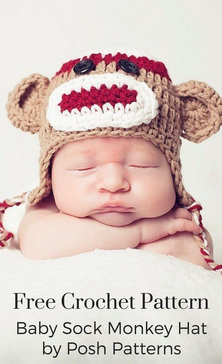 Sock monkey hat crochet pattern monkey hat free crochet and monkey free crochet pattern crochet this adorable sock monkey hat with the free crochet pattern bankloansurffo Images