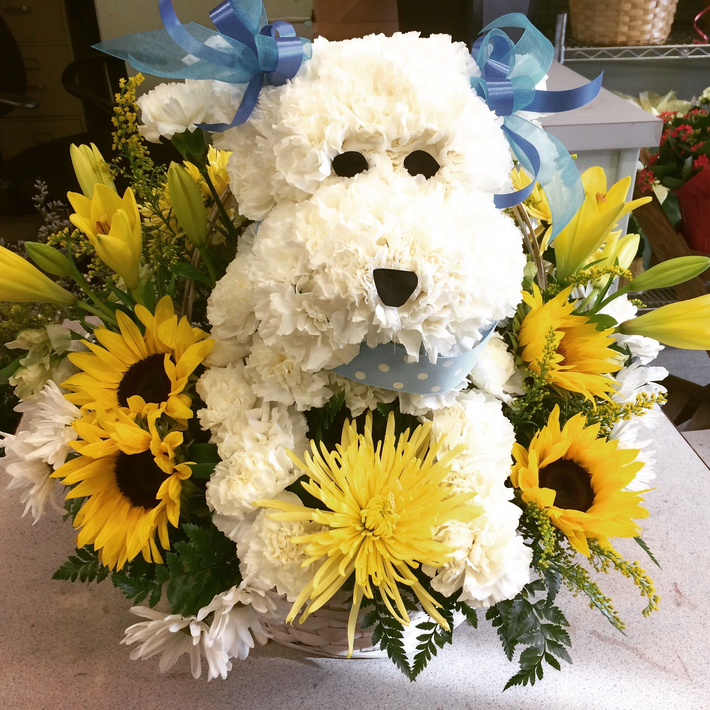 Dog Made Out Of Flowers One Our Most Por Creations
