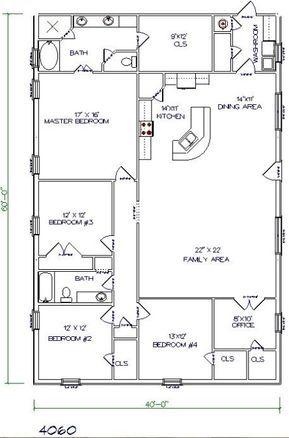 10 Metal Buildings With Living Quarters Ideas To Plan Your Best Home Archlux Net Barndominium Floor Plans Barn House Plans Floor Plans