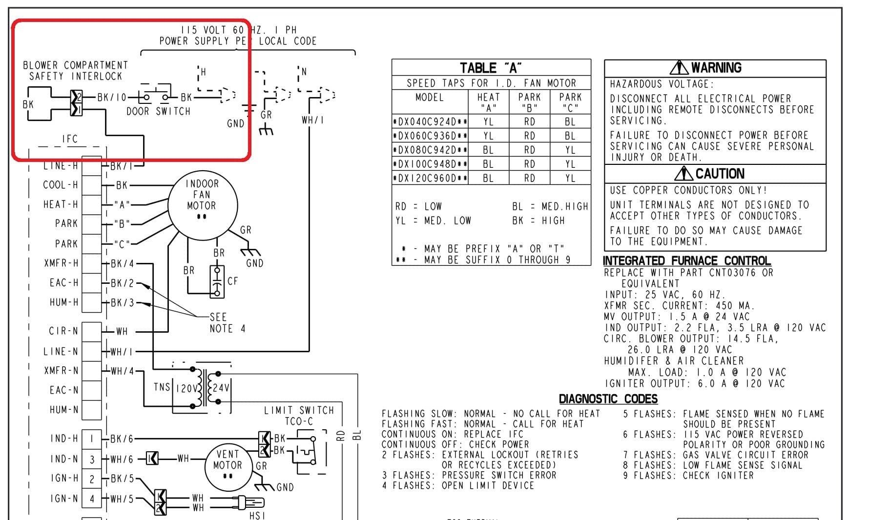 Trane Air Handler Wiring Diagram