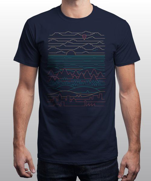 """""""Linear Landscape"""" is today's £9/€11/$12 tee for 24 hours only on Pin this for… 