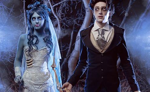 Couple costume La novia cadáver y Víctor