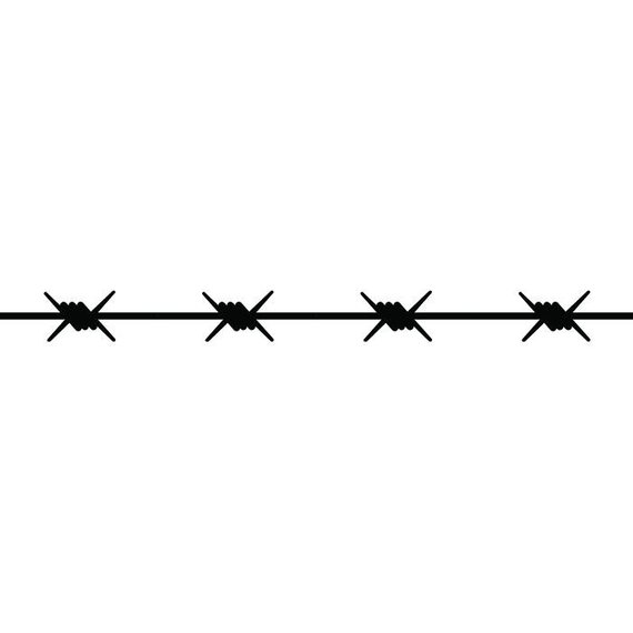 Barbed Wire 11 Straight Barb Fence Fencing Jail Western Ranch Tattoo Spike Spiked Svg Eps Png Di Barbed Wire Tattoos Russian Tattoo Country Tattoos