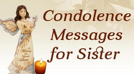 Condolences Messages For Sister  Condolences Sister Messages And