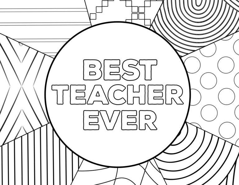 Teacher Appreciation Coloring Pages Paper Trail Design Teacher Appreciation Teacher Appreciation Printables Best Teacher Ever