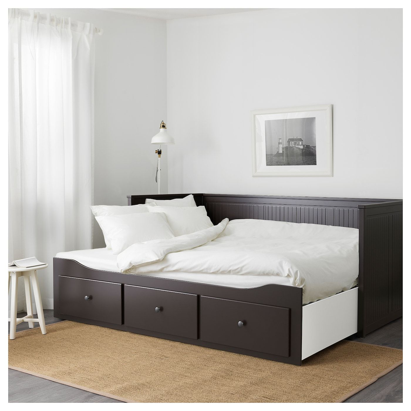 Hemnes Daybed Frame With 3 Drawers Black Brown Ikea Hemnes Mattress Springs Ikea Hemnes Daybed