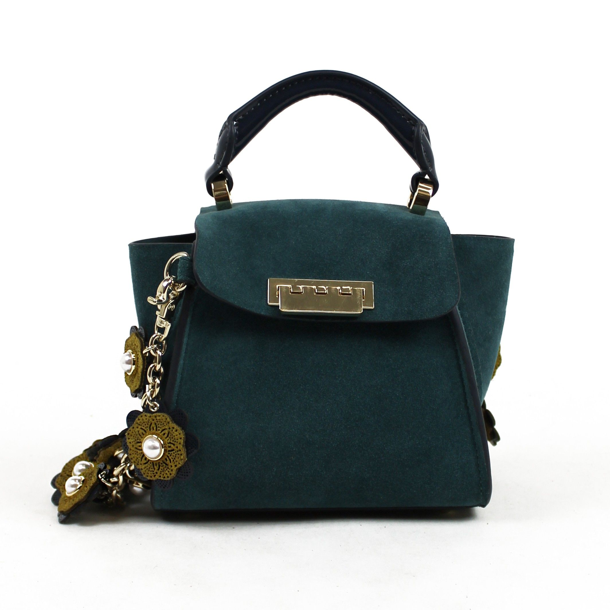 ZAC ZAC POSEN Eartha Iconic Top Handle Mini Colorblock in Teal.   zaczacposen  bags  hand bags   0df37b26660a3