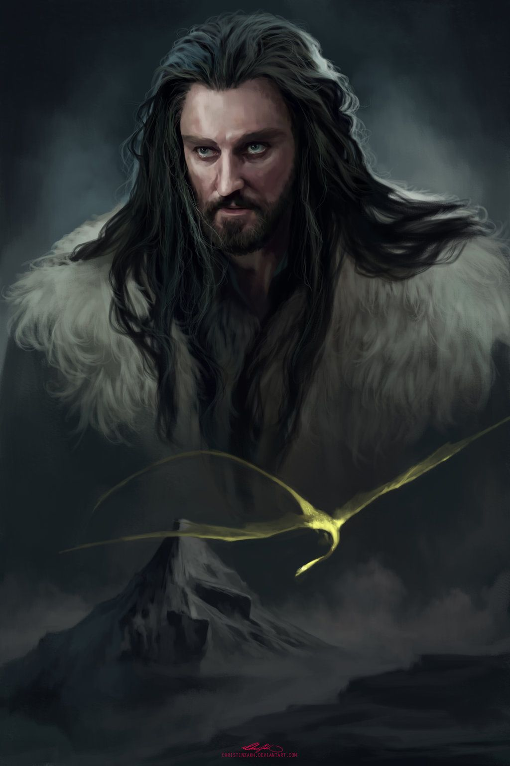 7bcd80573aa15 Thorin by ChristinZakh.deviantart.com on @deviantART The Heirs, Hobbit Art,
