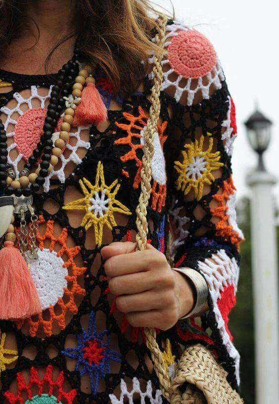 Pin von EvaH_DesigN auf Poncho crochet   Pinterest   Häkelmuster und ...