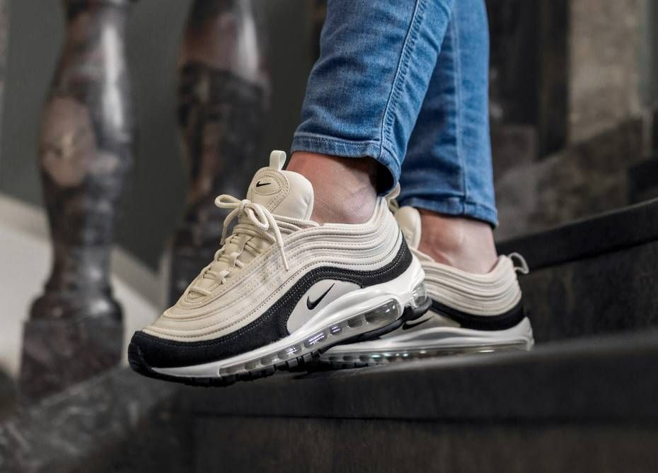 sports shoes 5b68b abcb2 Nike Wmns Air Max 97 PRM (Light Cream   Oil Grey - Light Cream)