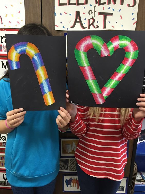 Elementary Art Projects For Christmas