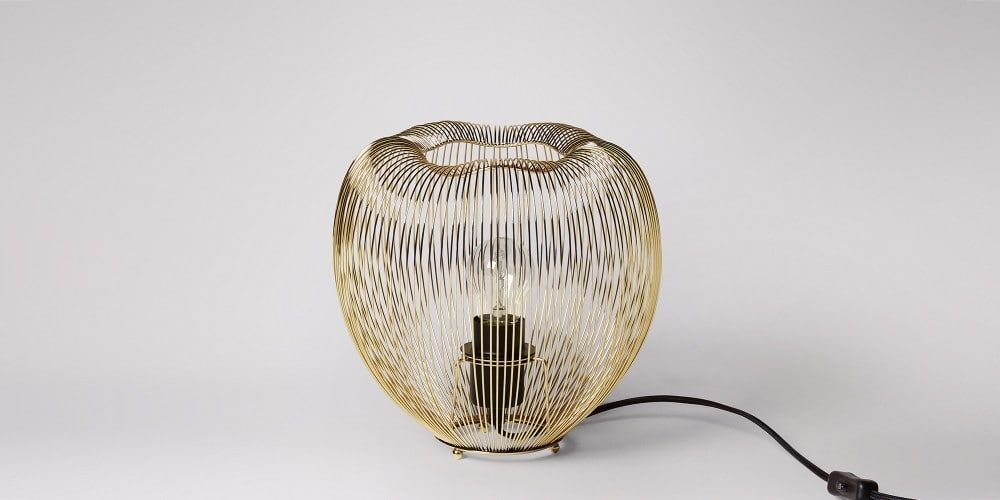 Obi Brass Table Lamp Swoon Editions Brass table lamps