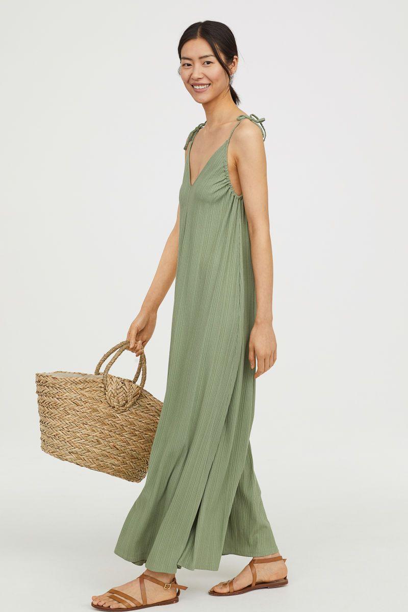 Oversized Maxi Dress Green Women H M Us Maxi Dress Green Maxi Dress Dresses [ 1200 x 800 Pixel ]