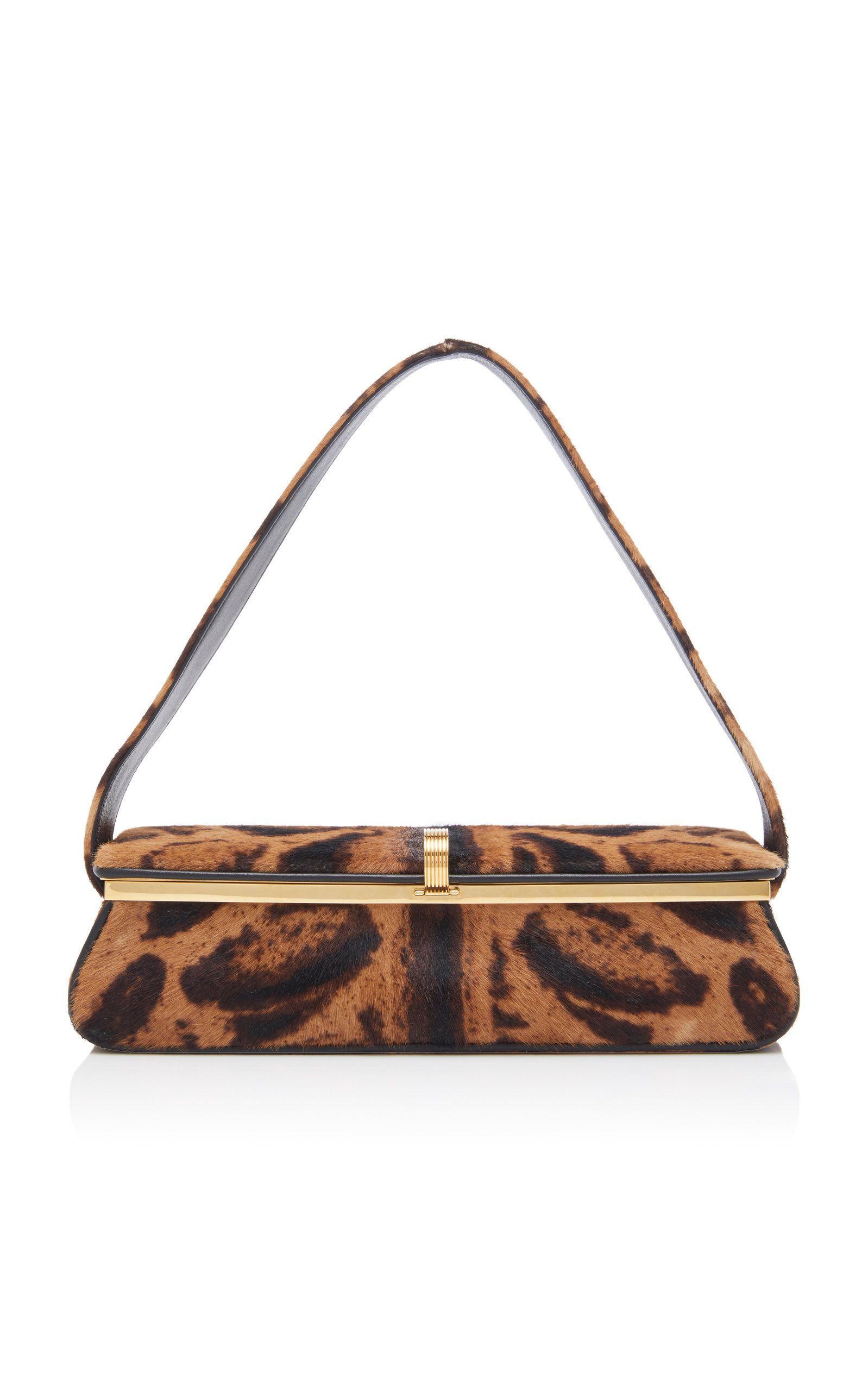 1dc686643885 Powder Leopard-Print Calf Hair Clutch by VICTORIA BECKHAM Now Available on  Moda Operandi