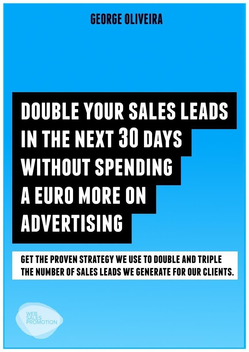 Double your sales leads in 30 days Sales leads, Business