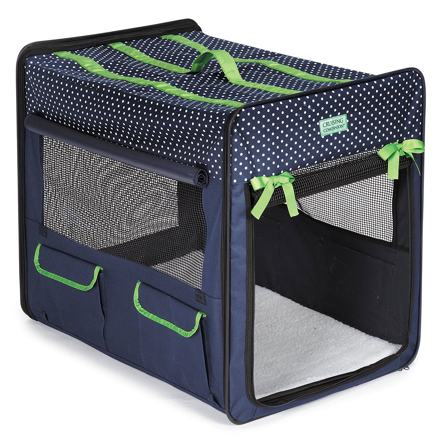Cruising Companion Polka Dot Collapsible Dog Crate Remarkable