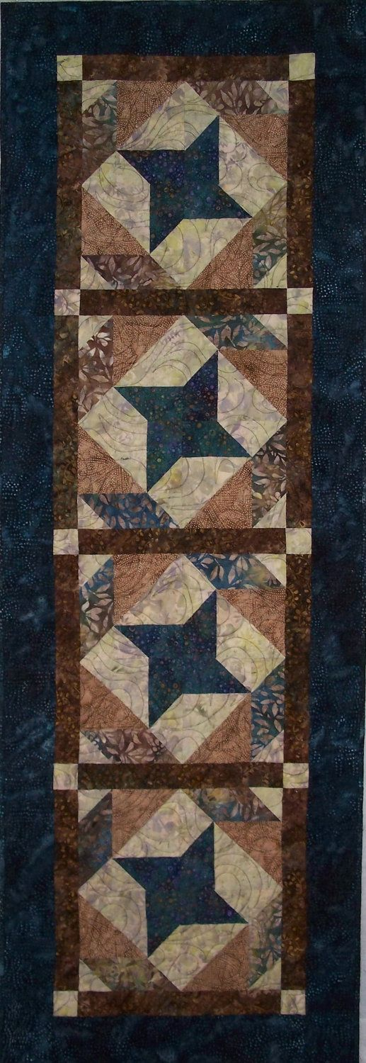 Table Talk - Table Runner/Wall Hanging Quilt Pattern. Etsy.