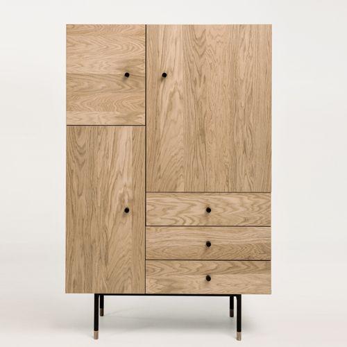 vaisselier plaqu ch ne naturel et noir pieds m tal jugend woodman buffet nice furniture and. Black Bedroom Furniture Sets. Home Design Ideas