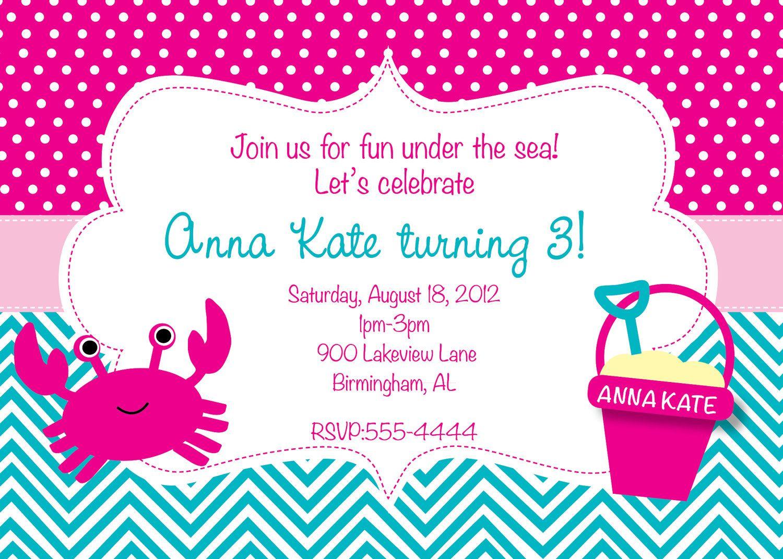 Under the Sea Birthday Invitation   Pinterest   Birthdays, Mermaid ...