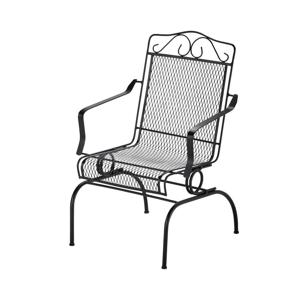 Hampton Bay Nantucket Rocking Metal Outdoor Dining Chair 6991700