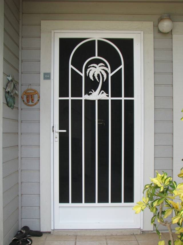 Palm tree screen door  Decorating House Stuff  Organizing  Doors Tropical decor Home Decor