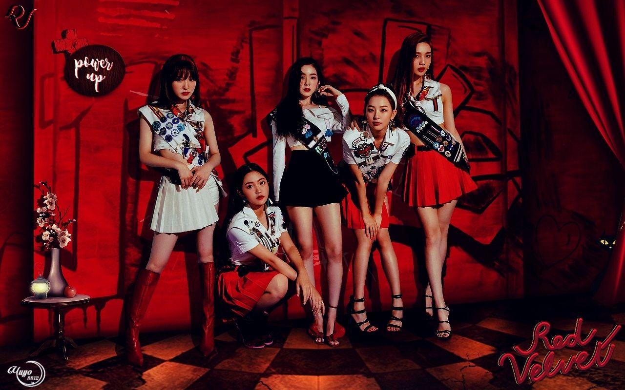 Red Velvet Power Up Wallpaper Comeback Irene Joy Kpop Png Powerup Red Redvelvet Render Velvet Wallpaper Wend Red Velvet Velvet Red Velvet Irene