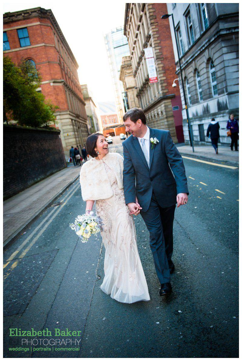 Wedding walk Christmas Eve Manchester City Centre Wedding Heron ...