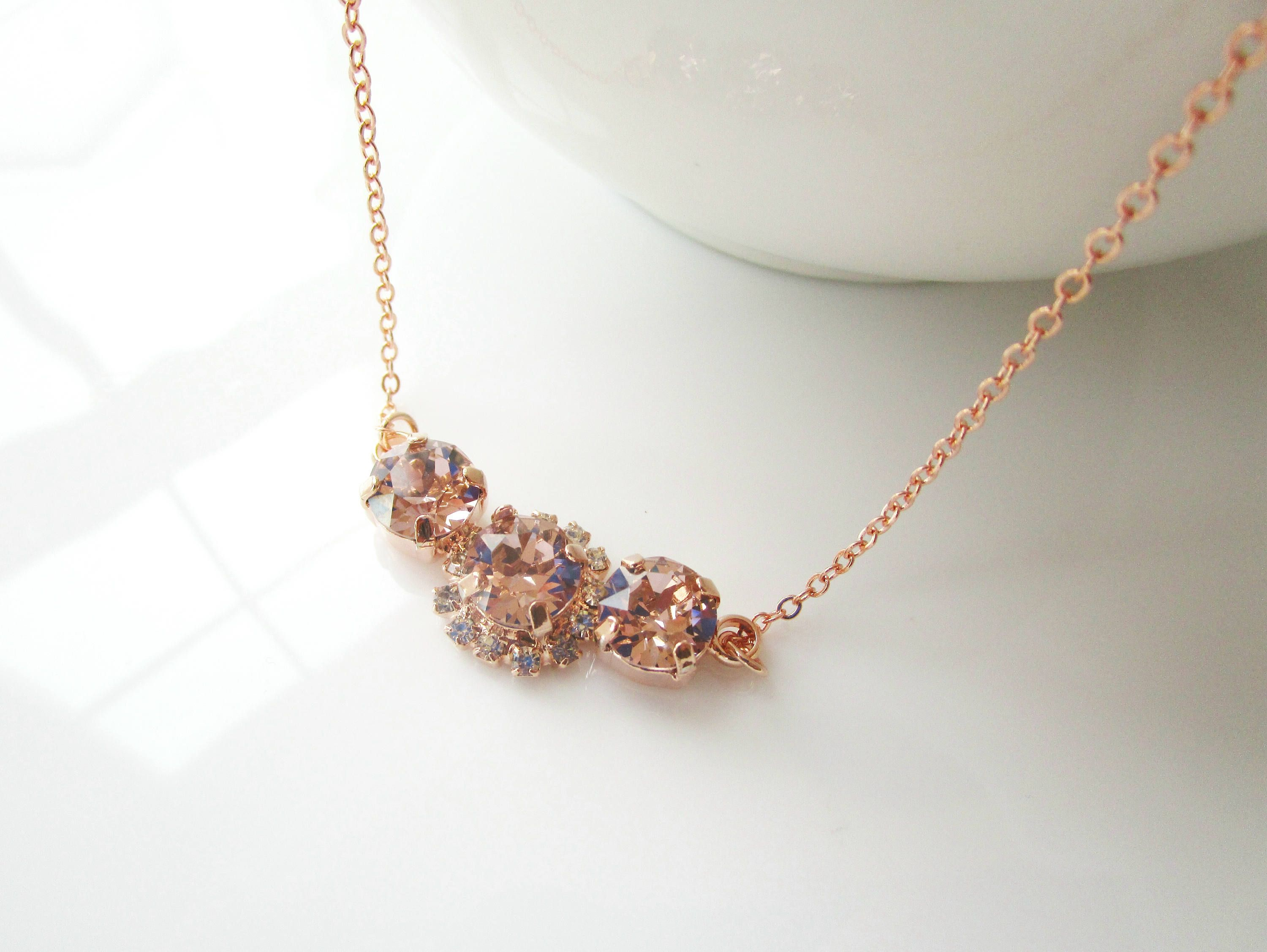earring blush jewelry of your geometric choice bib silver chunky or il pink light statement gold fullxfull p set necklace