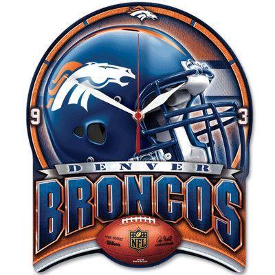 Wincraft NFL High Def Plaque Wall Clock NFL Team: Denver Broncos