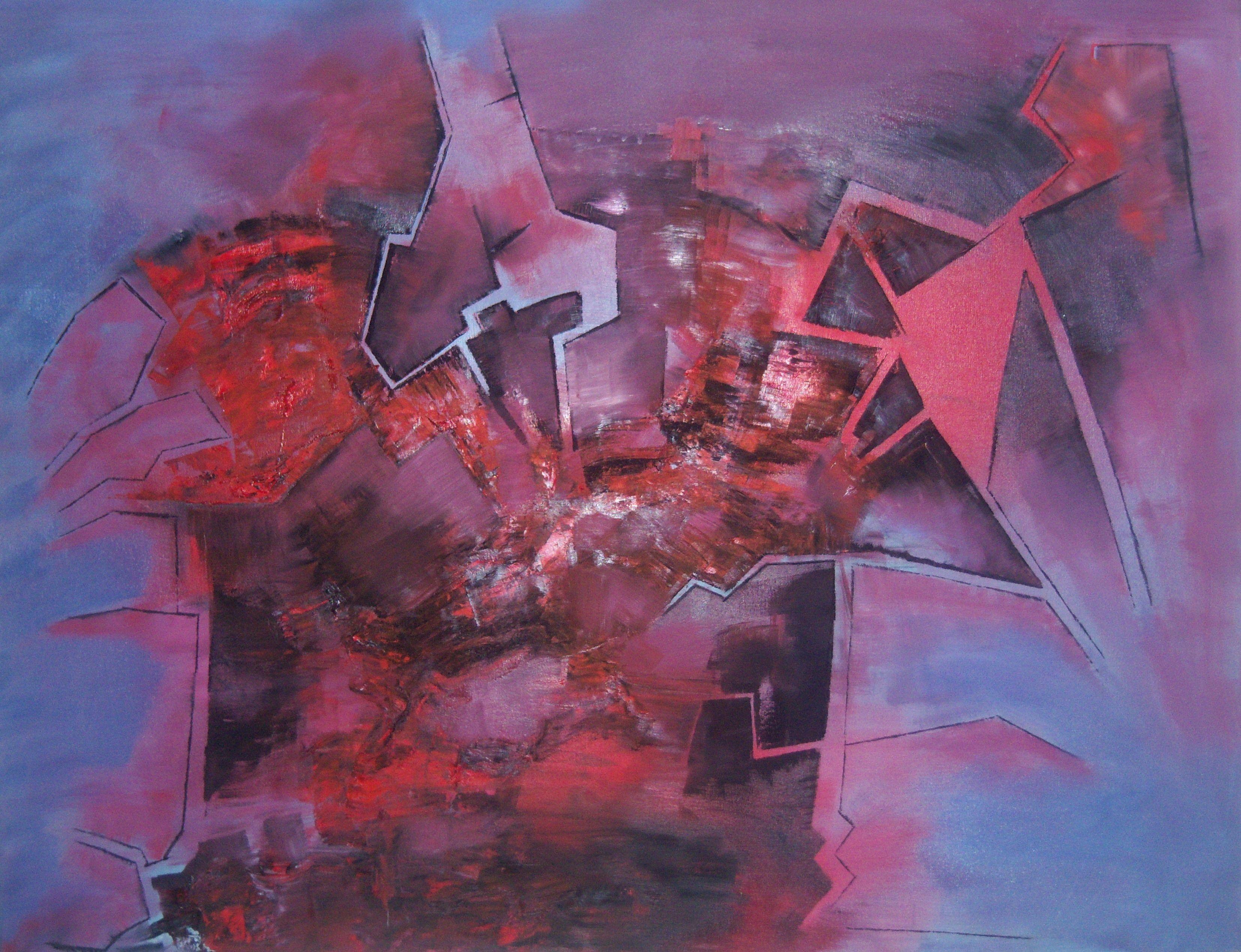 """Encrucijada"" - Fernando Gastron - Oleo sobre tela - 80 x 100 cm. - www.esencialismo.com"