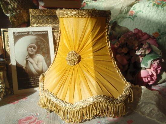 Delightful vintage 1950s yellow pleated chiffon candle lampshade delightful vintage 1950s yellow pleated chiffon candle lampshade aloadofball Choice Image