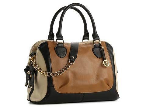 Audrey Brooke Paramount Leather Color Block Satchel Dsw