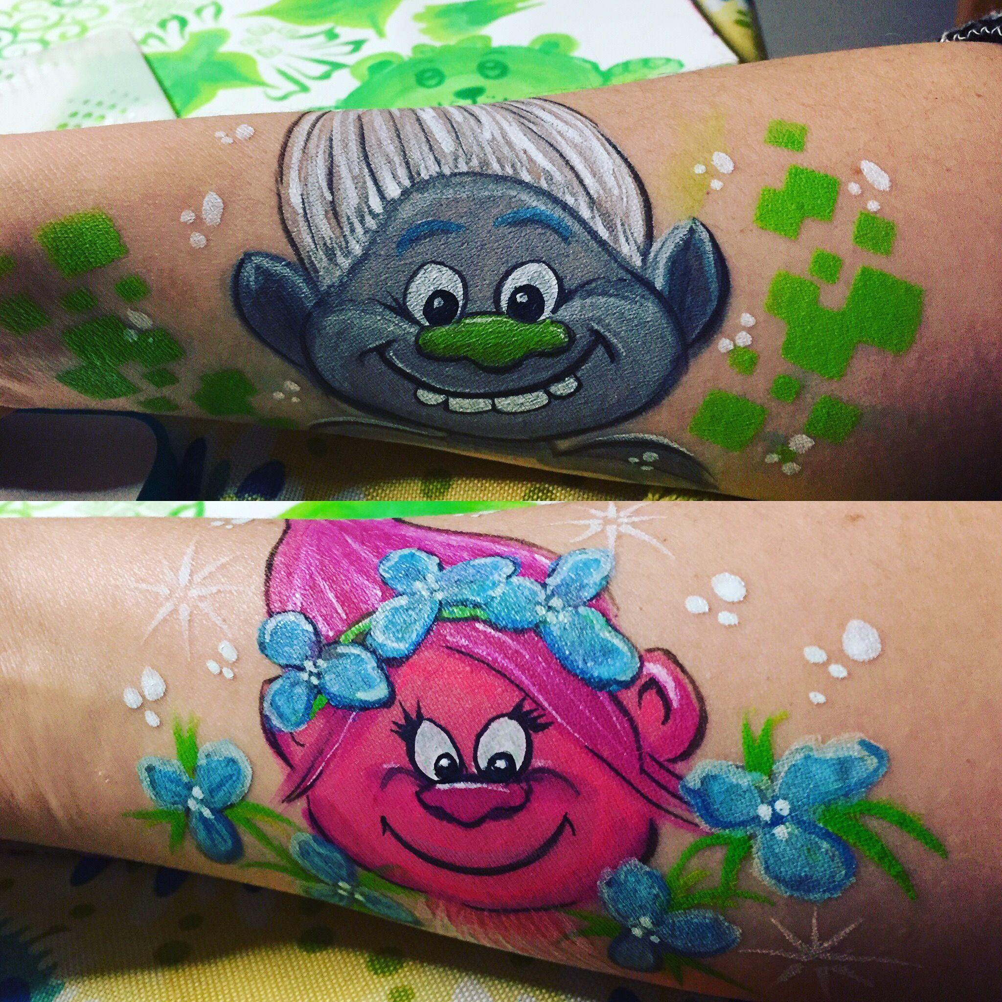 Trolls schmink | Schmink | Pinterest | Face, Face paintings and ...