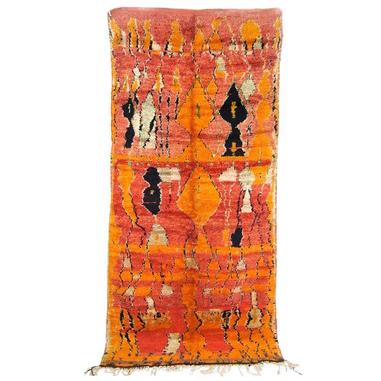 Handwoven Wool Moroccan Carpet