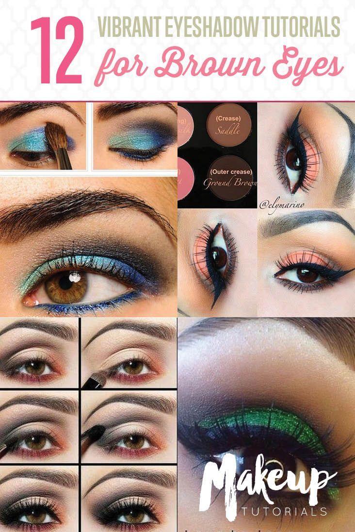 12 colorful eyeshadow tutorials for brown eyes | colorful eyeshadow