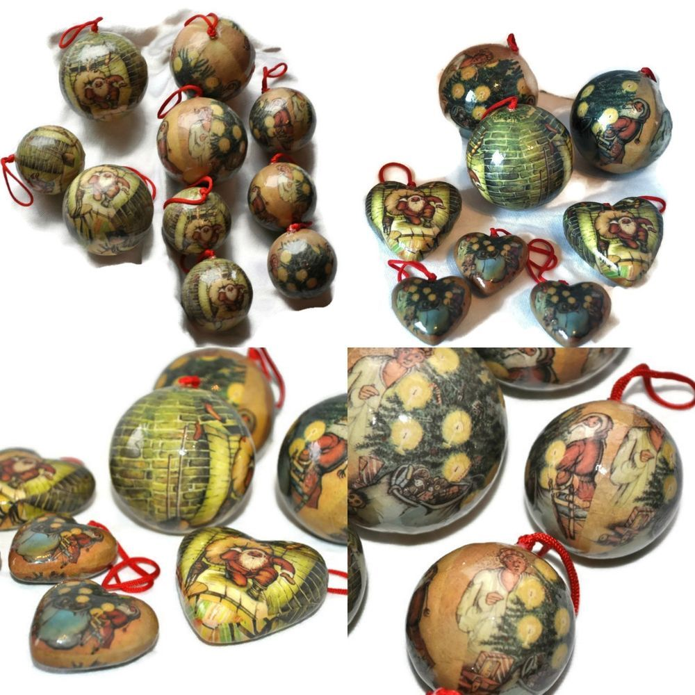 Vintage Paper Christmas Ornaments