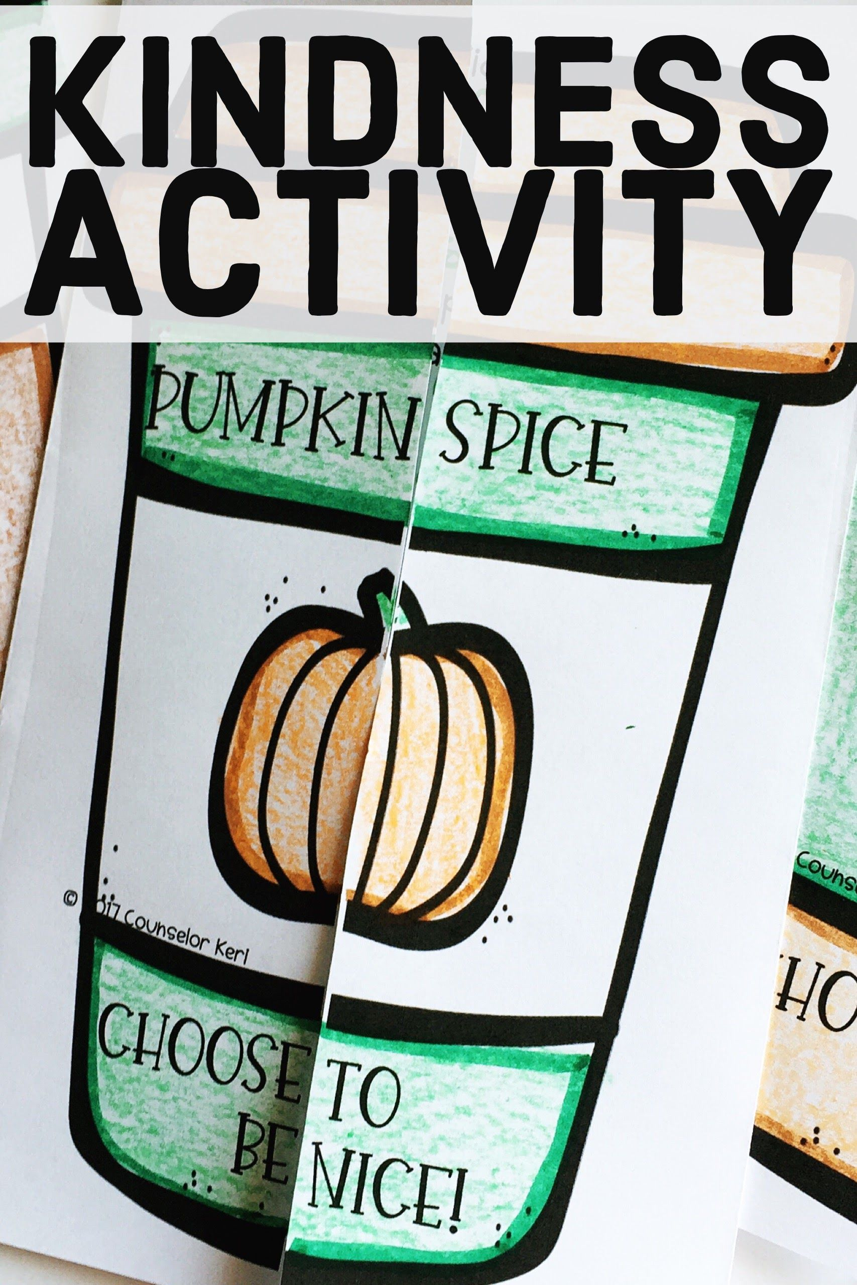 Pumpkin Spice Fall Kindness Activity For Elementary School