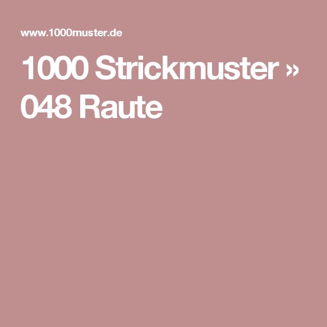 1000 Strickmuster » 048 Raute