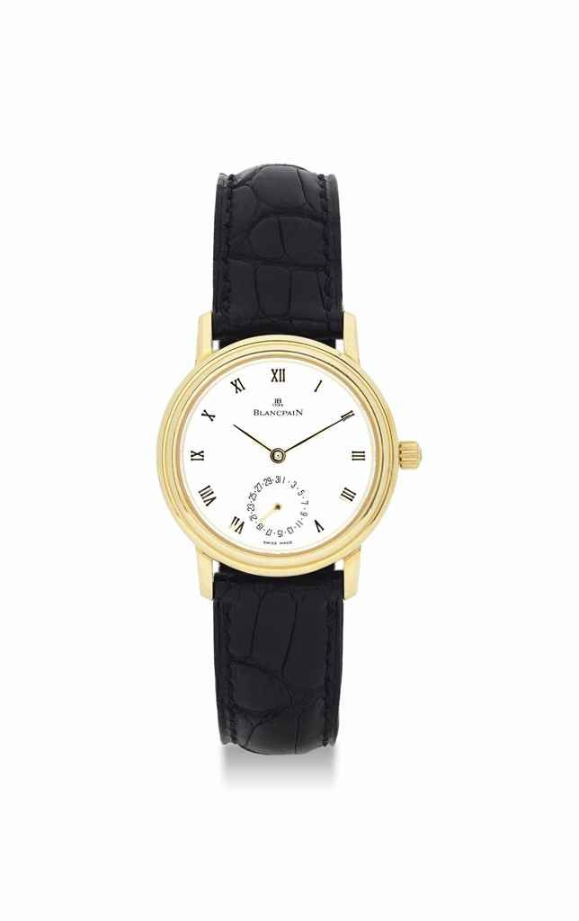 Blancpain. A lady's 18K gold automatic wristwatch with date.circa 1998. #watch #ChristiesWatches