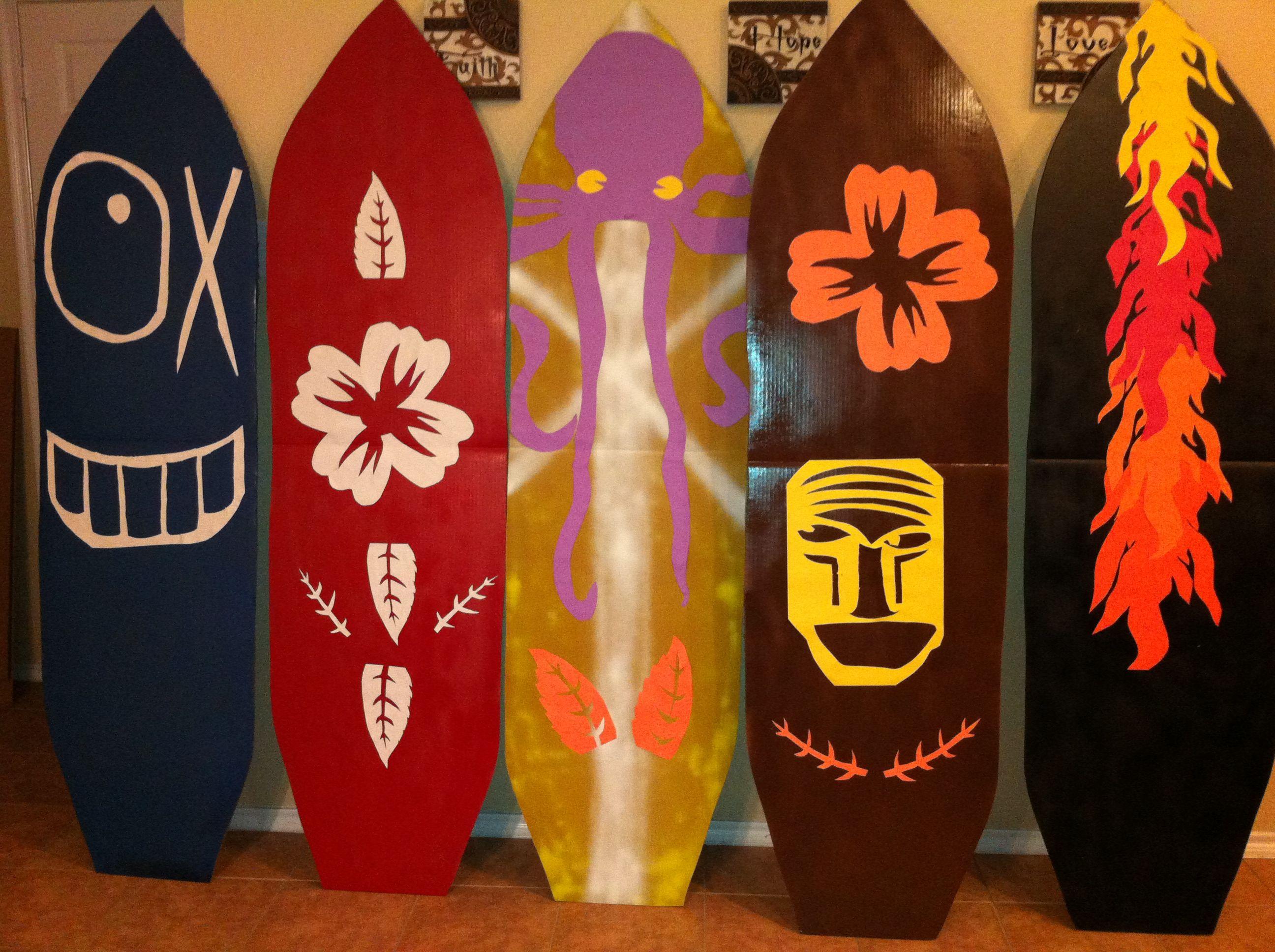 Cardboard Surfboards Craft Ideas Pinterest