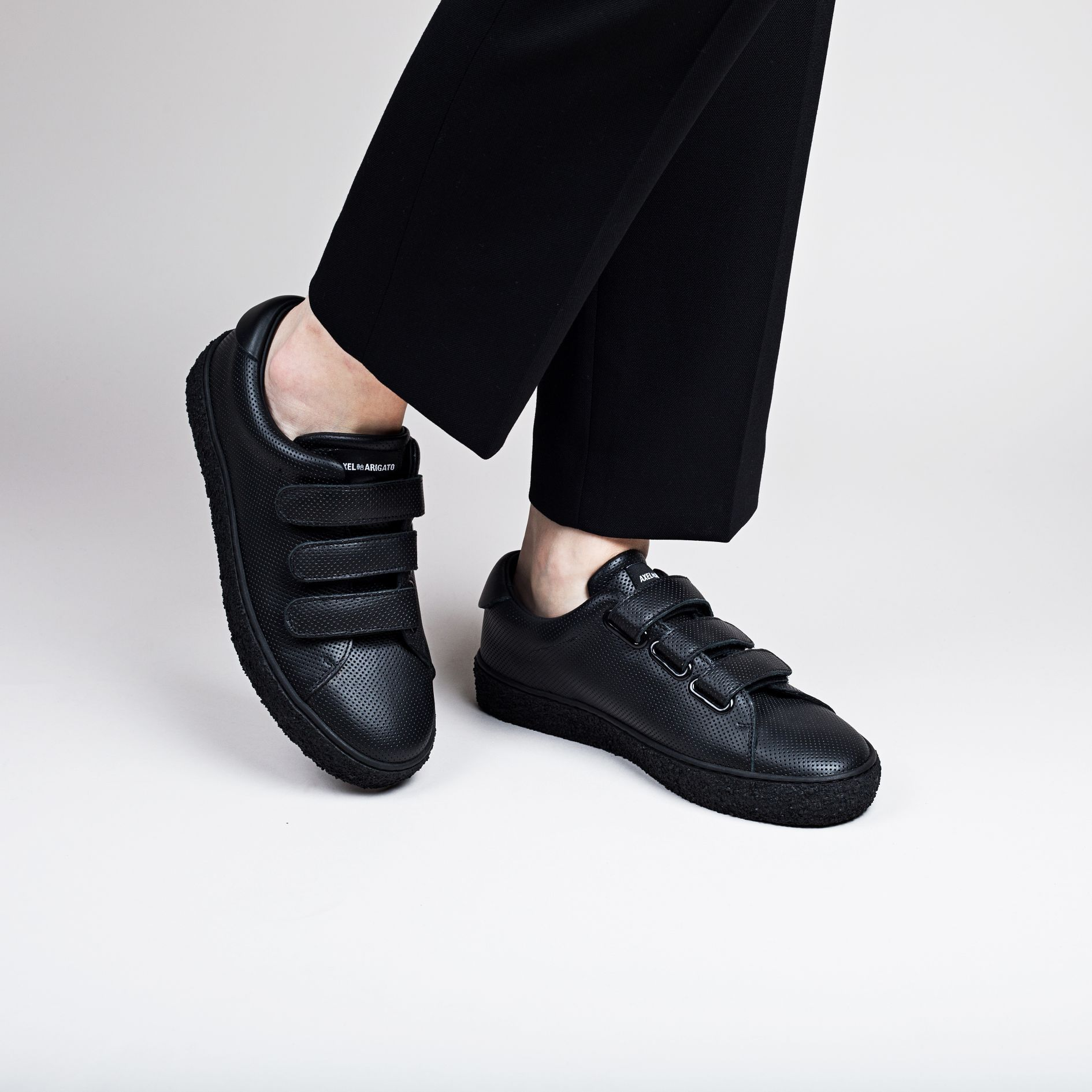 ff2cbcda1 AXEL ARIGATO - Tennis Sneaker Black Perforated Leather   Shoes S/S ...