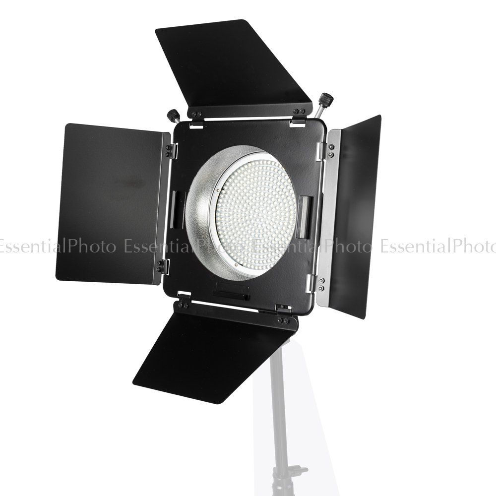 Portable Led380 Video Light With Barn Doors Dslr Green