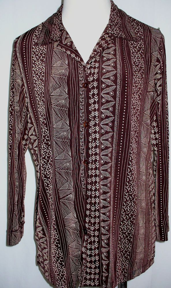 Citiknits 1X Brown Tan Geometric Floral Print Travel Blazer Jacket Slinky Plus #Citiknits #Blazer
