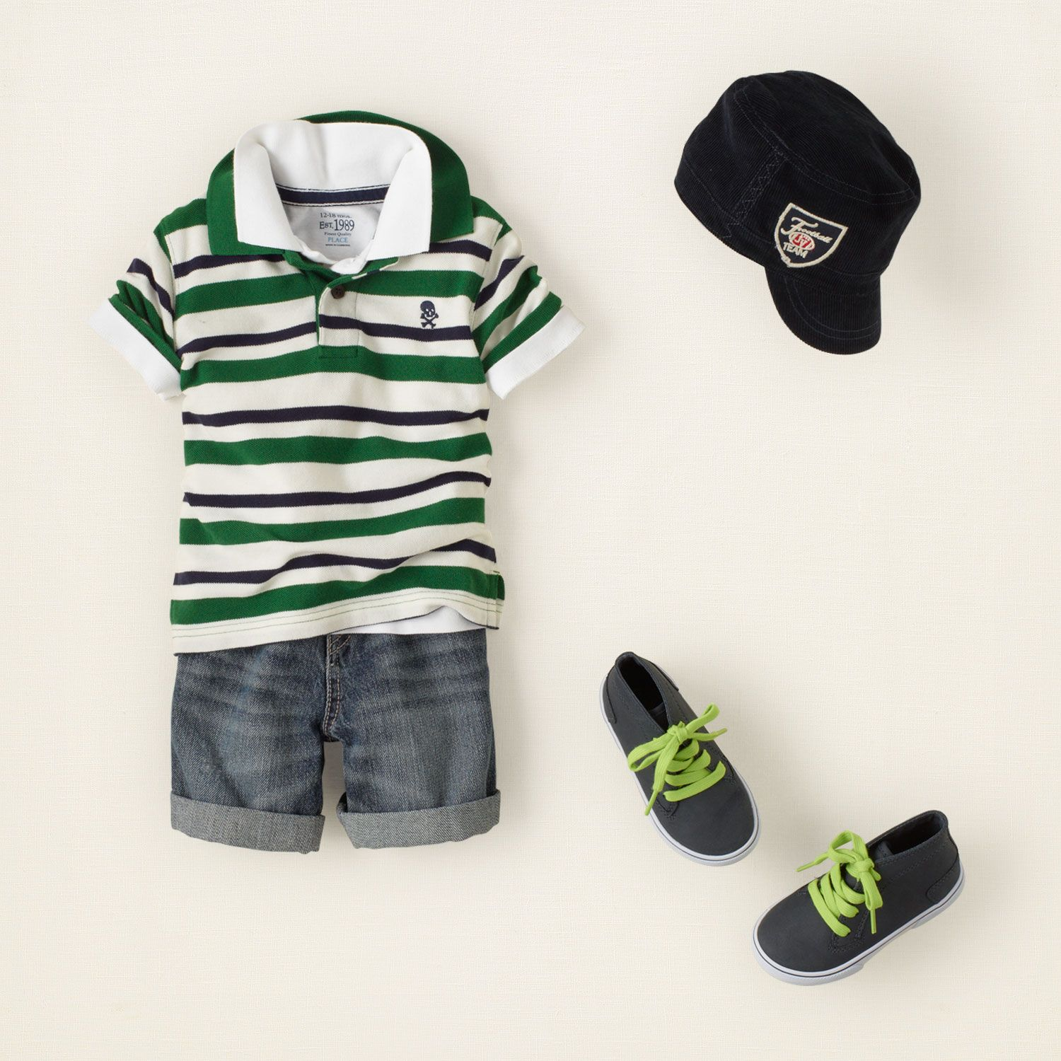 The Children's Place | Neat and pretty or sporty and cute? Save 15% off in-store or online w/ our code. Pictured: Ready to Roll Outfit for Boys