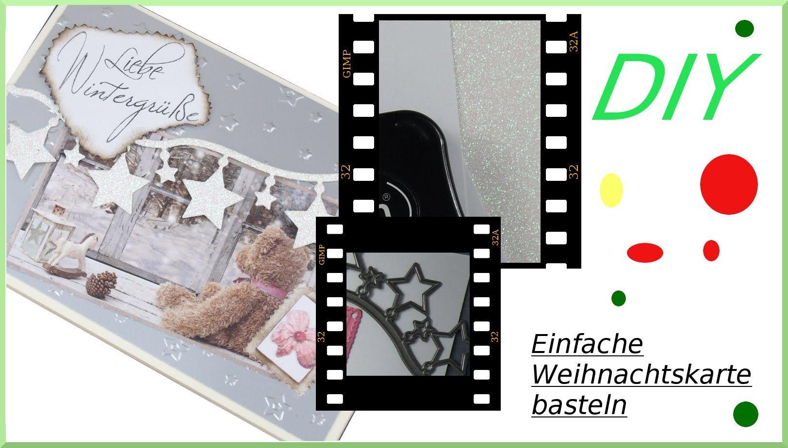 Großartig Edle Weihnachtskarten Basteln Ideen Von Video: Winterkarte Basteln. #cardmaking #kartenbasteln #papercrafting