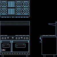 Beautiful Cocina Industrial (dwg   Dibujo De Autocad)   Cocinas