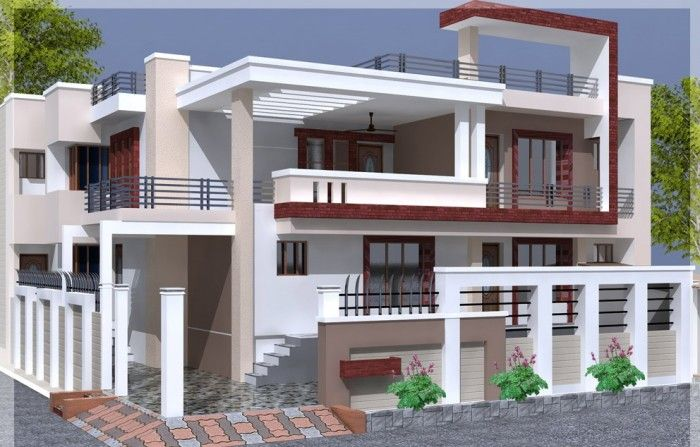 Box type house elevation elevation design india Indian home design